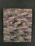 唐草に笹竜胆(ささりんどう)文様 型染め 名古屋帯