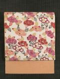 椿文様 紅型 真綿紬 名古屋帯