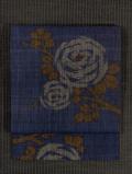 薔薇文様 絣織り 真綿紬 名古屋帯