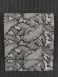 芭蕉の葉文様 型絵染め 名古屋帯