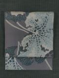 石蕗(つわぶき)文様 型染め 名古屋帯