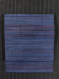 横縞文様 手織り真綿紬 名古屋帯