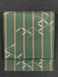 縞に破れ七宝文様 型染め 名古屋帯