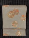波の地紋に花鳥文様 西陣織り 紗 袋帯