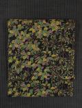 樹木文様 型染めに手描き染め 名古屋帯