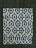 幾何学文様 絣織り 麻 名古屋帯
