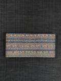 縞に更紗文様 型染め 半巾帯