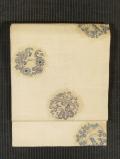 鹿の子文に鳳凰と花丸文様 型染めに手刺繍 絽 名古屋帯
