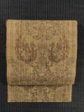 科布に鳳凰唐草文様の染め 八寸名古屋帯