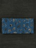 貝文様 型染め 半巾帯