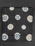水玉に十字絣文様 型染め 絽 名古屋帯