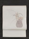 花籠文様 紗 袋帯