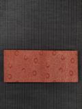 菊唐草文様 型染め 半巾帯