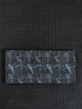 草花に鳥文様 型染め 半巾帯
