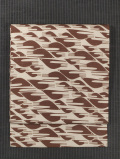 千鳥文様 型染め 絹絽 名古屋帯