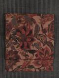 鳥に唐花文様 型染め 紬織り 名古屋帯