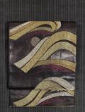 となみ帯 仙福屋宗介製  波に松ぼっくり文様 西陣織 袋帯
