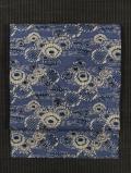 流水に菊文様 型染め 生紬 名古屋帯