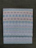 幾何学絣文様 紬織 名古屋帯