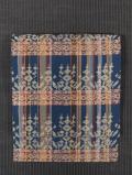 縦縞に花鳥文様 西陣織り 紬 名古屋帯