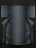 伝統工芸士 中條隆一作 紺鼠(こんねず)色 角通しぼかし文様 江戸小紋 袷