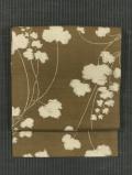 木の葉文様 ろうけつ染め 真綿紬 名古屋帯