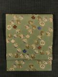 亀甲に松竹梅文様 型染めに手刺繍 名古屋帯