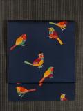 鳥文様 型染め 名古屋帯