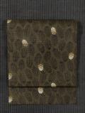 松葉に松ぼっくり文様 型染め 紬 名古屋帯