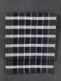 格子縞文様 手織り信州木綿 名古屋帯