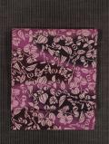 ぼかし染めに唐花文様 型染め 真綿紬 名古屋帯