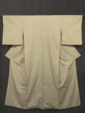白橡(しろつるばみ)色地 十字絣文様 真綿紬 袷