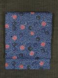 松葉散らしに花籠と梅文様 紅型染め 名古屋帯
