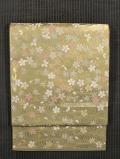 河村織物製 手織り 春彩桜花文 袋帯
