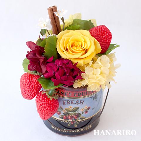 アンティークポット(ストロベリー)/プリザーブドフラワー【送料無料】