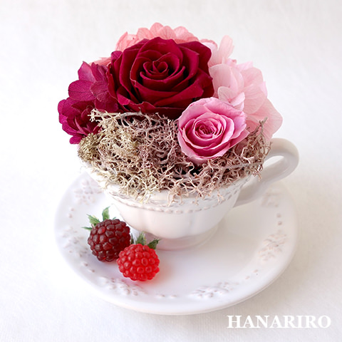ベリーカフェ(ピンク)/プリザーブドフラワー【送料無料】
