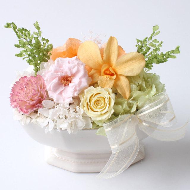 アレンジ「チュチュ(クリアケース入)」/プリザーブドフラワーギフト 【送料無料♪】