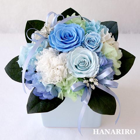 キューティ(ブルー)/プリザーブドフラワー【送料無料】