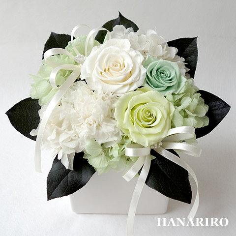 キューティ(ホワイト)/プリザーブドフラワー【送料無料】