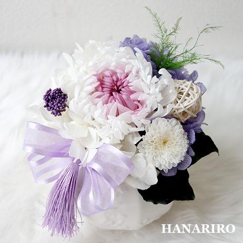はなおもい(パープルL)/お悔み・お供え/プリザーブドフラワー【送料無料】