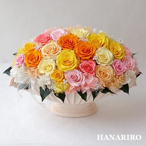 アレンジ「ミックスローズ」/プリザーブドフラワーギフト 【送料無料♪】