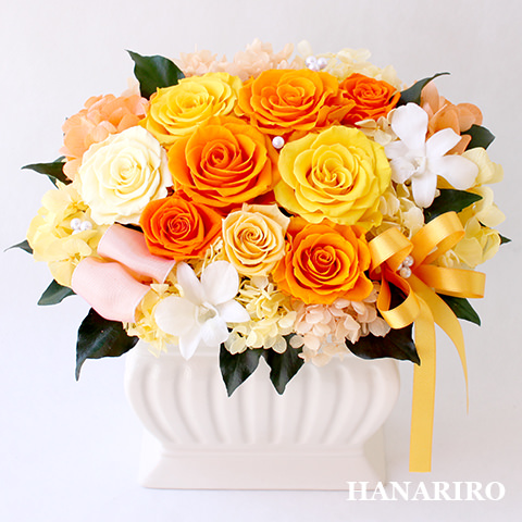 アレンジ「瑞樹(みずき)」/プリザーブドフラワーギフト  【送料無料♪】