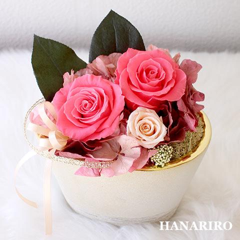 アレンジ「ねいろ(ピンク)」/プリザーブドフラワーギフト  【送料無料♪】