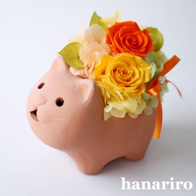 ネコさんアレンジ/プリザーブドフラワー【送料無料】