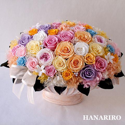 アレンジ「パステルシュガー」/プリザーブドフラワーギフト 【送料無料♪】