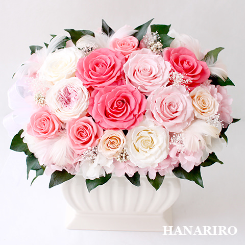 アレンジ「ロマンス」/プリザーブドフラワーギフト 【送料無料♪】