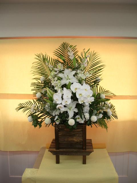 葬儀用供花 (焼きすぎ台)一対
