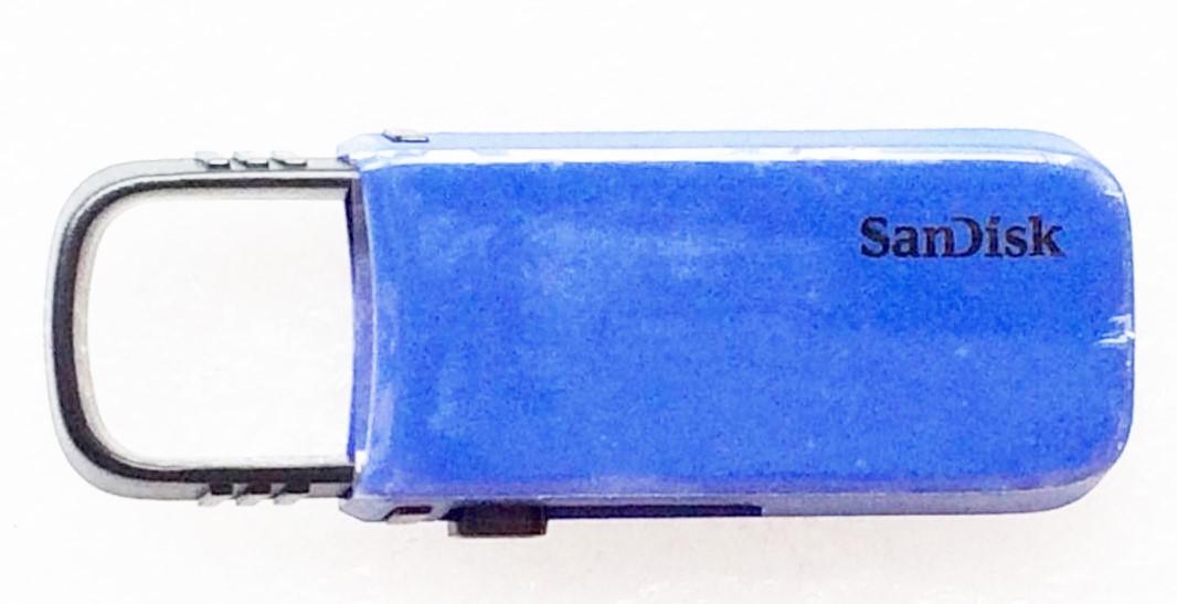 USBメモリ:SanDisk製純正新品Cruzer U 16GB(SDCZ59-016G,青)メール便送料160円