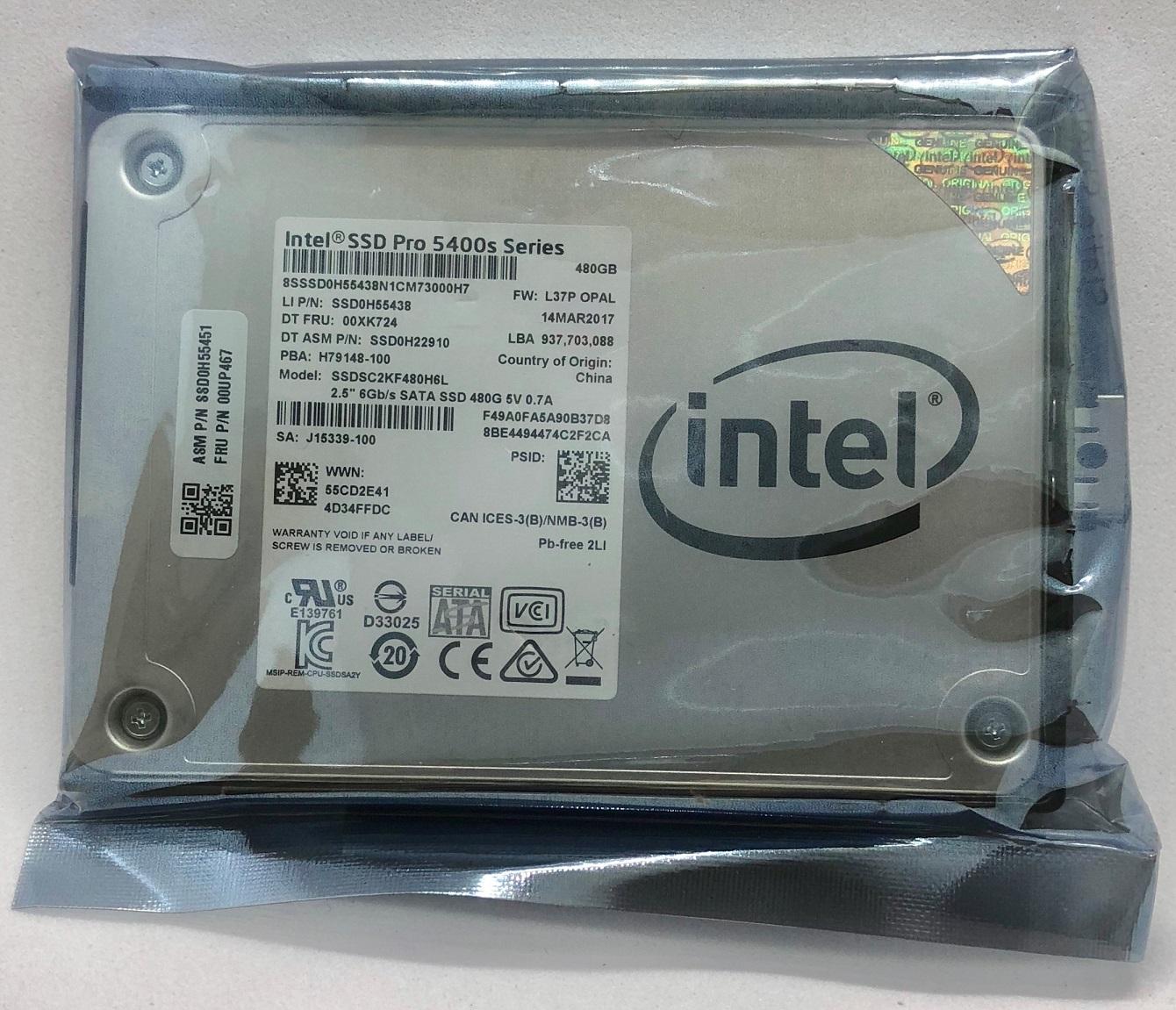SSD:新品 Lenovo純正 2.5inch 7mm 480GB(Fru.No.:00UP467, SSDSC2KF480H6L)国内発送