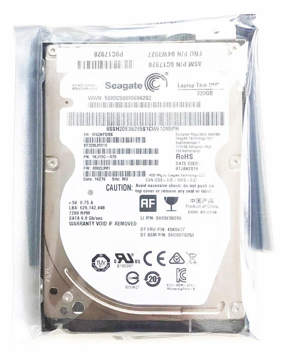 HDD:Lenovo製純正新品 (Seagate製) 320GB (04W3927, ST320LM010, 国内発送)